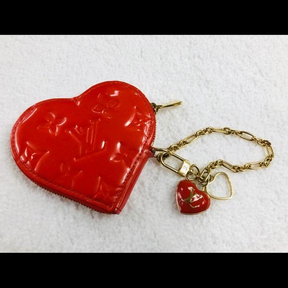 Louis Vuitton Handbags - LOUIS VUITTON ORANGE HEART COIN PURSE DC TH4098